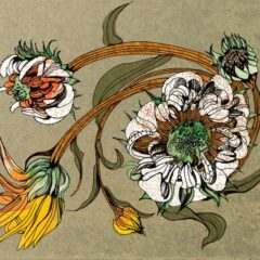 Florale Karten Collage