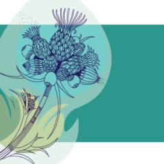 Florale Karten